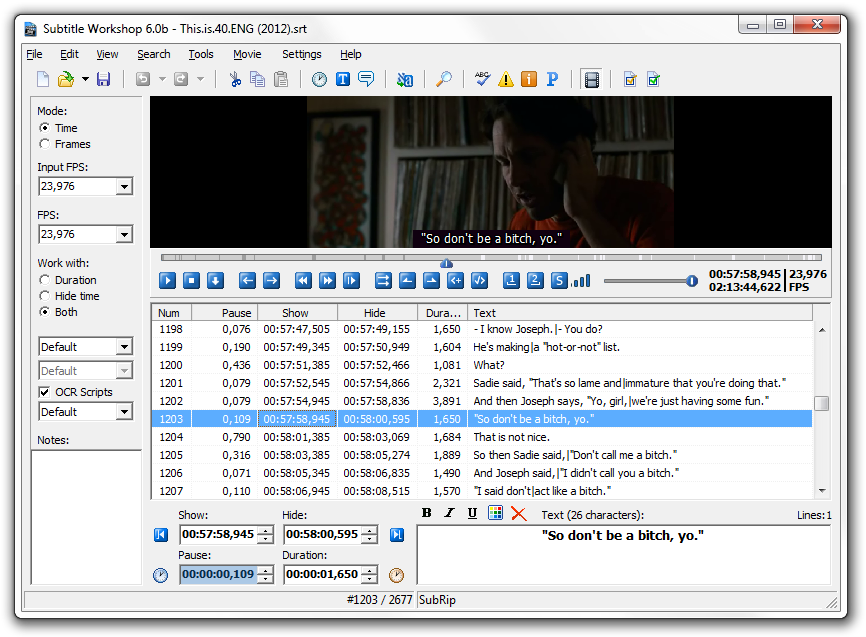 Best free software for movie subtitle editing