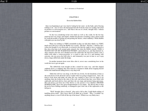 PDF in iBooks for iPad