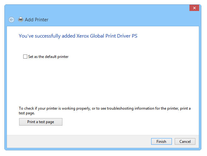 Setting up a virtual PS printer - Step 8