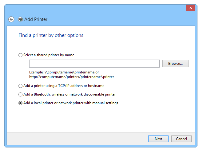 Setting up a virtual PS printer - Step 2