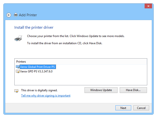 Setting up a virtual PS printer - Step 4