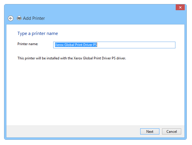 Setting up a virtual PS printer - Step 5