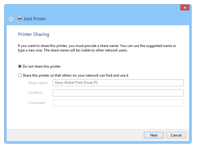 Setting up a virtual PS printer - Step 7