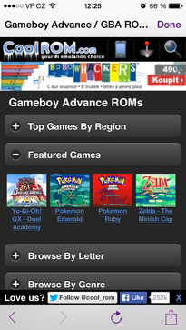 GBA4iOS install game