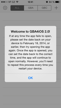 GBA4iOS installed to iPhone