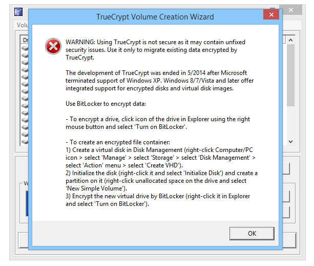TrueCrypt screenshot