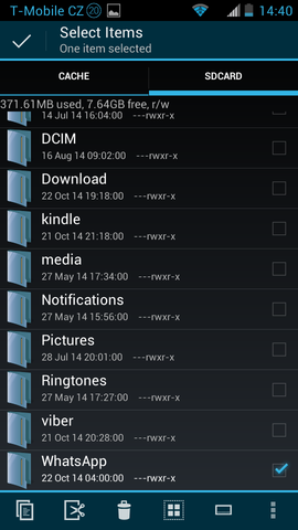 Whatsapp backup folder on Android