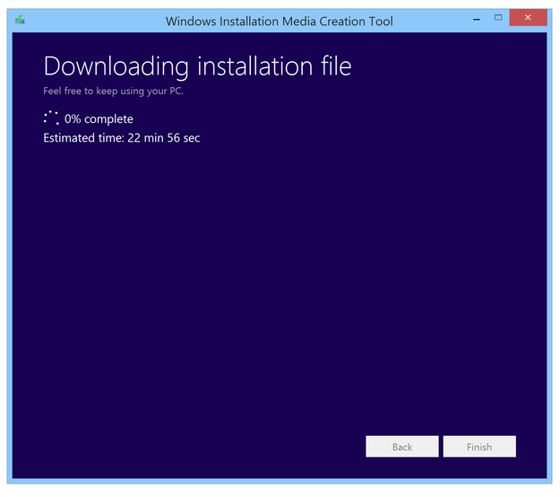 Downloading and creating Windows 8 installation image or flash drive