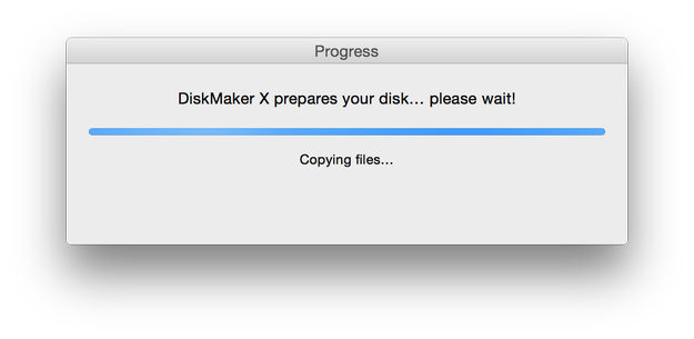 DiskMaker X preparation process