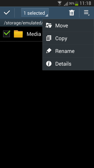 Copy Media folder on Android