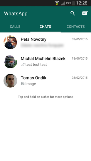 Whatsapp for Android imported messages
