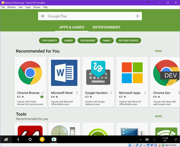 Google Play Store in Remix OS