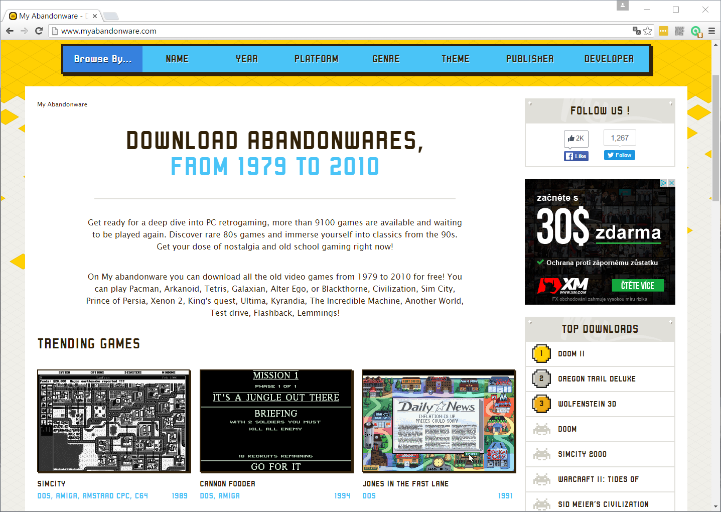 Myabandonware screenshot