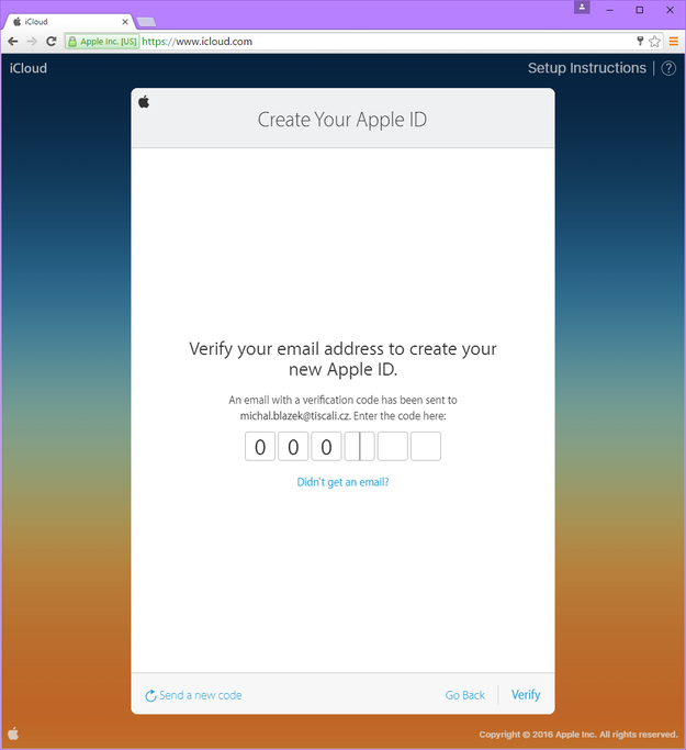 how to create icloud account without apple device