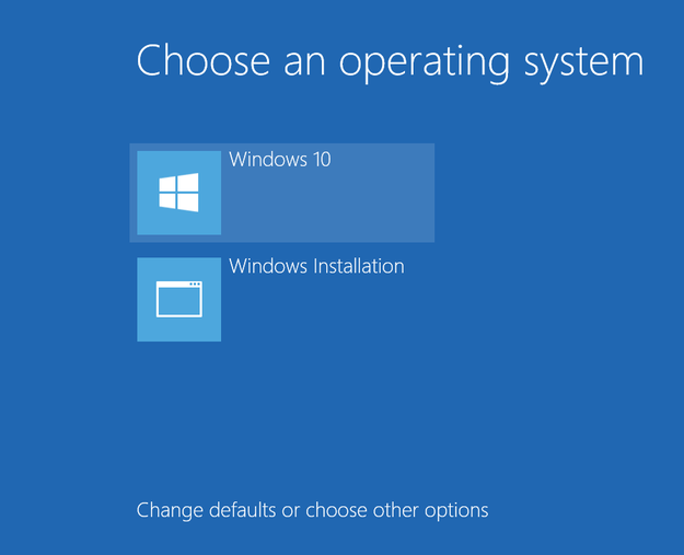 Boot Menu Windows 10