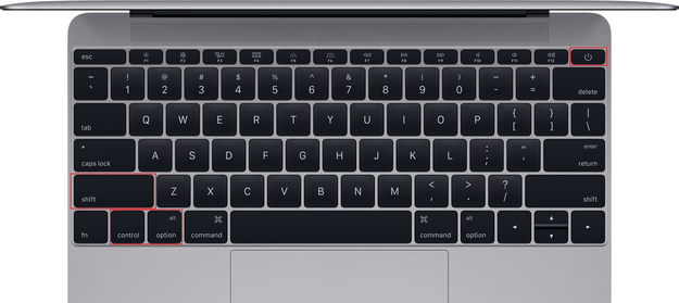 macbook keyboard reset SMC shortcut