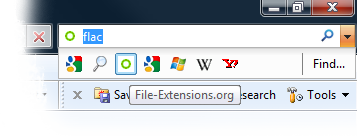 Internet Exploer search box
